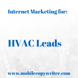 Internet marketing leads for HVAC
